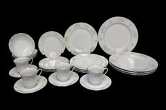 24 Piece China Garden Prestige Jian Shiang Service Set for 4 House Warming Gift