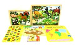Lot of 5 Preschool Puzzles And Games Letters Numbers Colors Animals