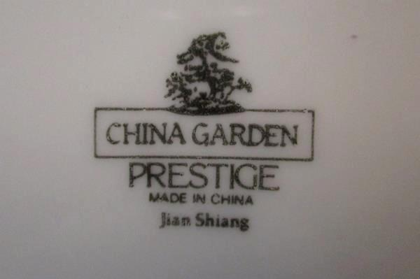 12 Piece China Garden Prestige Jian Shiang Service Set for 2 House Warming Gift