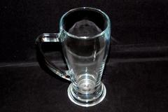 Vintage Fidenza FI.YE pint Glass Stein Made In Italy 0.4L Clear Handle