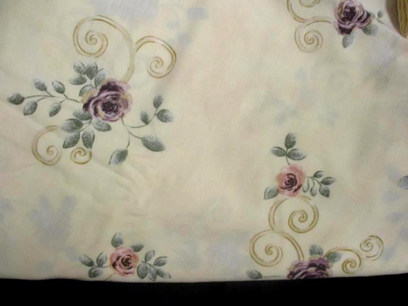 JC Penney's Twin Size Sheet Set Home Collection Floral Fitted Flat Pillowcase