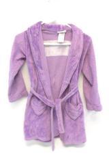 Komar Kids Girls Bath Robe Size 7/8 Fleece Purple Dream Flame Resistant