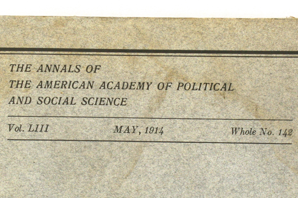 May 1914 Public Utilities Annals American Academy of Political Social Science