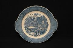 Royal China Currier and Ives Old Grist Mill Dinner Plate 10.5 Inch Handles