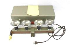Logan Electric Supply 4 Bar Double Switch Light Unit In Metal Case For Cameras