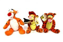 Lot of 3 Tigger Plush Bean Bag Toys Walt Disney World Store Original Sound