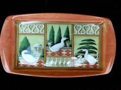 WILSCOMBE Melamine Trinket or Serving Tray Ducks & Garden Design Kitschy