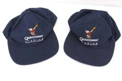 Lot of 2 Vintage Snap Back Blue Caps Hats Qualcomm Stadium Adjustable San Diego