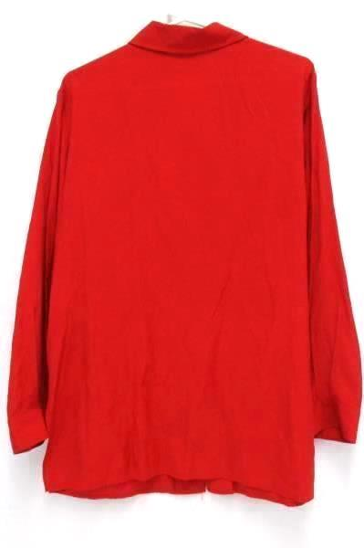 Blushe Impressions Red Long Sleeve Career Blouse T Buttons Women's 16