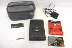 GE Cassette Player Recorder Model No 3-5027A Black AC Adapter Tapes Case