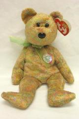 Ty Beanie Babies Speckles The Bear DOB: 2/17/2000 Vintage Teddy Baby
