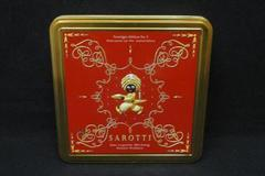 Sarotti Chocolate Tin Red Gold Toned Empty Collectors Berlin