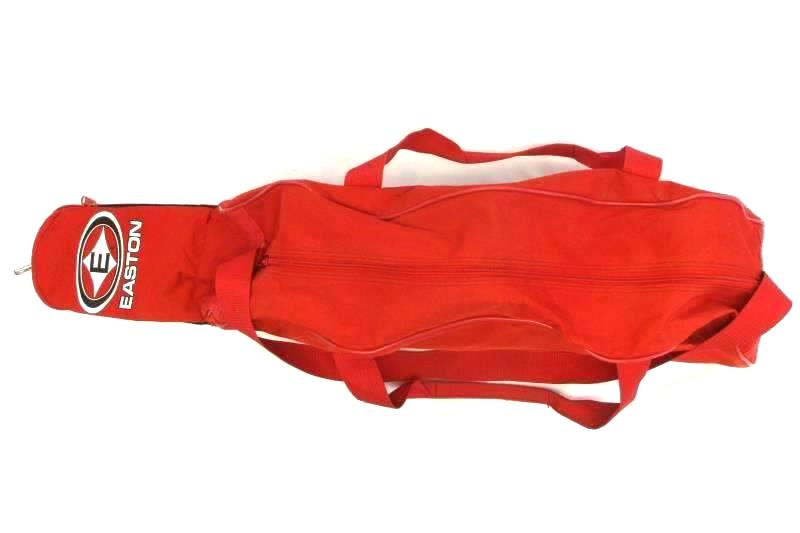 Easton Sports Baseball Carry All Duffle Bag Red Black 32in Handle No Back Strap