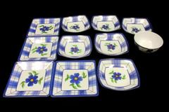 Lot of 11 Melamine Ware Serving Dishes Bread Dessert Plates Bowls Floral Plastic