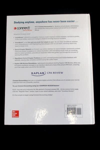 McGraw-Hill's Taxation of Individuals 2016 Edition Textbook Spilker Barrick