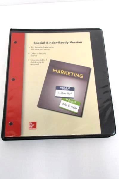 McGraw-Hill Marketing Textbook Special Binder Ready Version Hunt Mellow