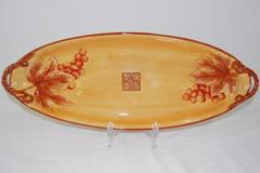 Fitz and Floyd Del Vino Serving Platter Tray 21.25 Inch Long