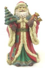 "Vintage Santa Claus Figure Music Box Jolly Old St. Nicholas 10.5"""