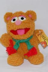 Vtg Bear Muppets Fozzie Baby 1987 Jim Henson Scarf Plush with McDonalds Hang Tag