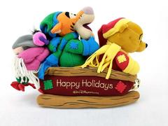Walt Disney World Winnie the Pooh Christmas Sled Jinglebells Dancing Plush Toy