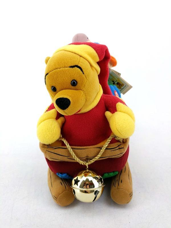Walt Disney World Winnie the Pooh Christmas Sled Jinglebells Dancing Plush Toy
