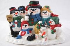Accents Unlimited Wee Crafts Finished Snowman Family Photo Completed Finished