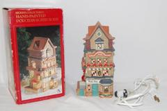 Dickens Collectibles Music Shop Hand Painted Lighted Porcelain Building House