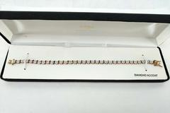 Diamond Accent Tennis Bracelet 18K Gold Plated Sterling Silver 7.5 in