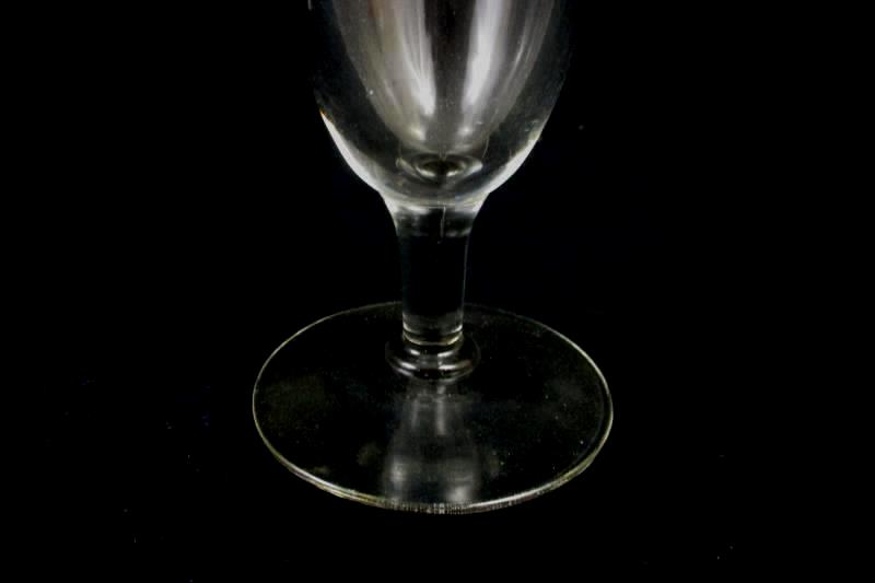 Lot of 4 Vintage Clear Glass Beer Glasses Champagne Flutes Footed