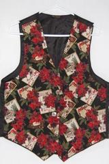 A Brod Fashion Holiday Vest Christmas Poinsettia Black See Measurements