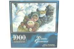 Classic Treasures Jigsaw Puzzle Winter Wonderland 1000 Pieces Bears Sledding