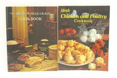 Lot of 2 Ideals Publishing Cookbooks Chicken Poultry Whole Grain 1980 1973