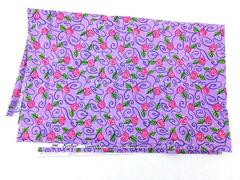 Dana Simson Fabric Floral Purple Pink Red Green 1 & 3/4 Yards Cotton x 43in Wide