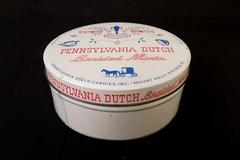 Pennsylvania Dutch Braided Mints 14 Oz. Vintage Empty Tin
