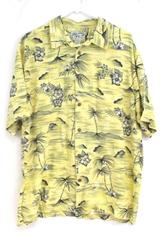 Big Dogs Shirt Hawaii Button Up Men's Floral Palm Trees Size Large