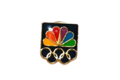 Seoul Korea 1988 Olympics NBC TV Broadcasting Media Olympic Lapel Pin Tie Tack