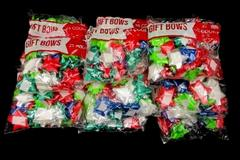 Lot of 15 Bags Berwicks Peel N Stick Christmas Bows 25 Count Bag 375 Total Red
