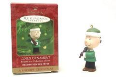 Hallmark Keepsake Ornaments A Snoopy Christmas Linus Fourth in Series