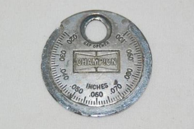 Champion CT481 Spark Plug Gap Taper Gauge Gray Round Small