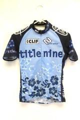 Sugoi Women's Cycling Shirt Size XS Blue Hawaiian Title Nine Zip Closure Pocket