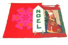 Lot Of 3 Hanging Christmas Wall Decor Items Holiday Seasonal Snowflakes Noel