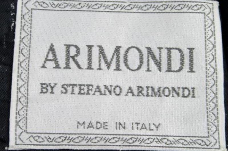 Men's Suit Jacket by Stefano Arimondi Tweed Dark Blue Gray White Size 44R Padded