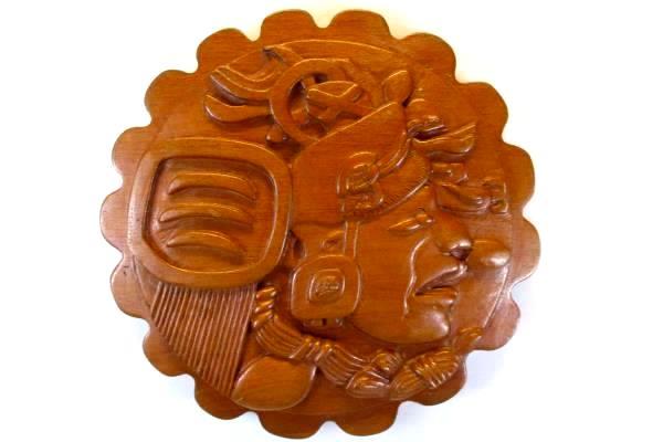 Handmade Carved Real Wood Wall Hang San Jose Succotz Belize South America