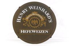 Henry Weinhard's Hefeweizen Beer Bar Plastic Sign Man Cave Garage Bar