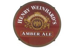 Henry Weinhard's Amber Ale Beer Bar Plastic Sign Man Cave Garage Bar