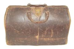 Vintage Hinson Mfg Co Leather Camera Bag 3 Sections 1 Int Pocket Made in USA