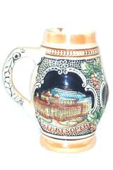 Vintage Wein Staatsoper Wein Rathaus Beer Stein Austria