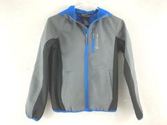 Free Country Hooded Jacket Live In It Blue & Gray Zip Up Youth's Size Small 8