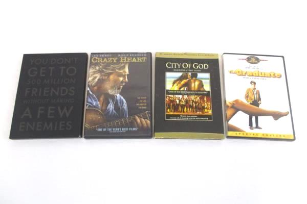 Lot of 4 Award Winning Nominated DVD's City of God The Social Network & more