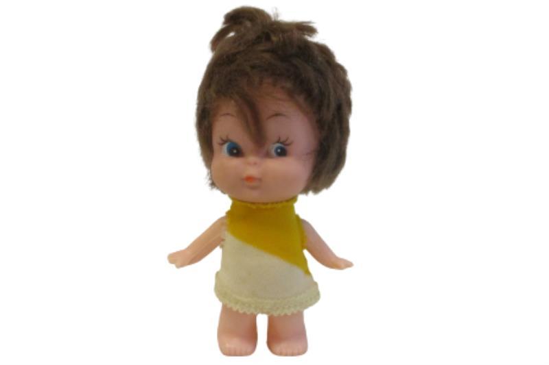 Lot of 3 Vintage Plastic Dolls With Rooted Hair Blonde Brown Orange